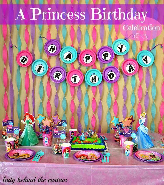 A princess birthday celebration princess birthday princess and birthdays - Princess party wall decorations ...