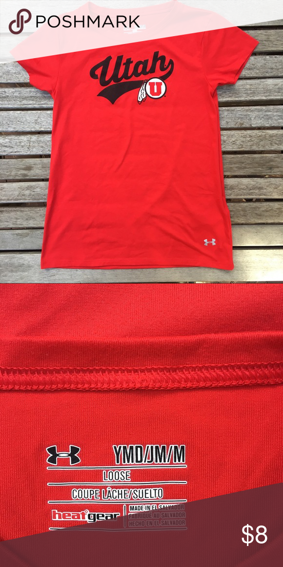 size 40 9f620 1f6e0 Red Utah Utes Red Youth T-Shirt Go Utes!! Under Armour Youth ...