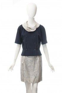 GUCCI vintage kostým vlna s hedvábím 36 38. VogueGucciOutletsVintage da8caef64ab