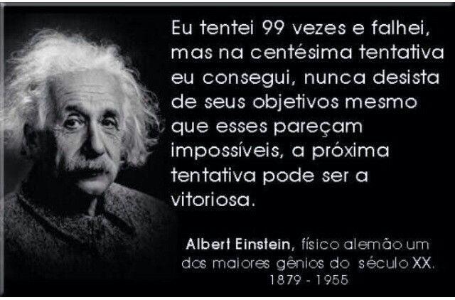Persistir Frases De Motivacao Citacoes De Einstein Frases