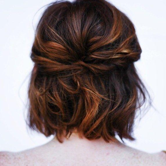 Tie Back Your Bob Hair Styles Short Hair Styles Long Hair Styles