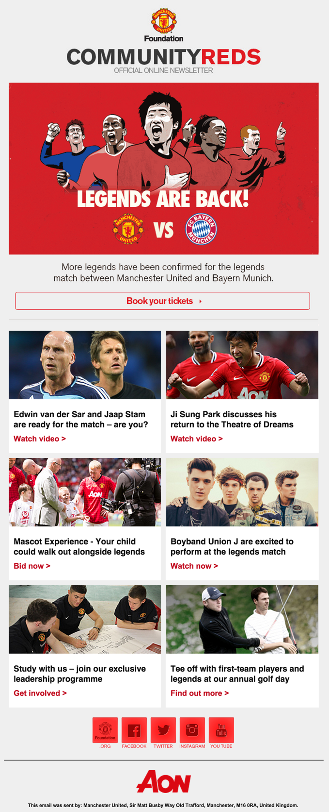 Email Design Inspiration From Manchester United Email Design Inspiration Email Design Email Layout