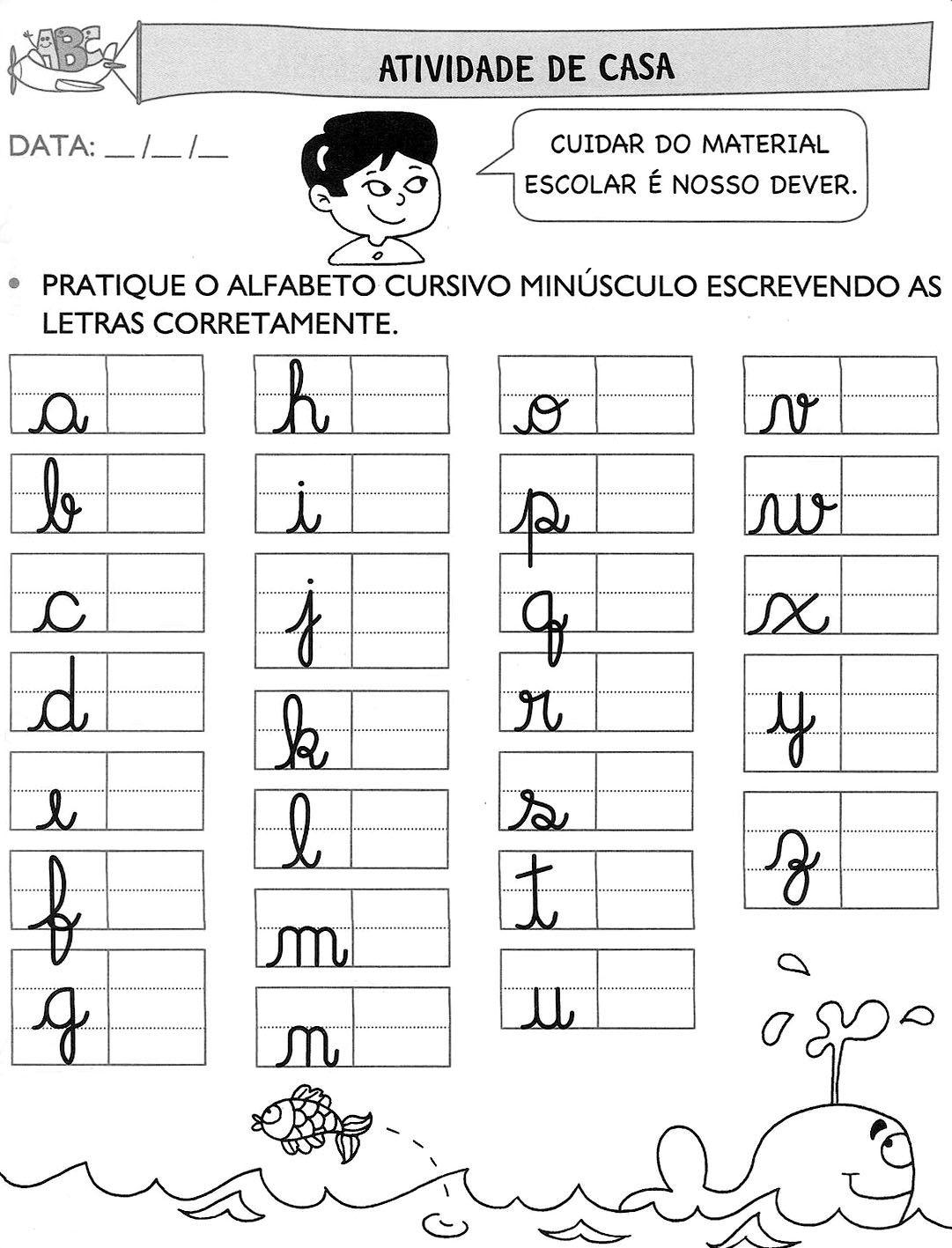 Resultado De Imagem Para Atividade De Casa Pratique O Alfabeto