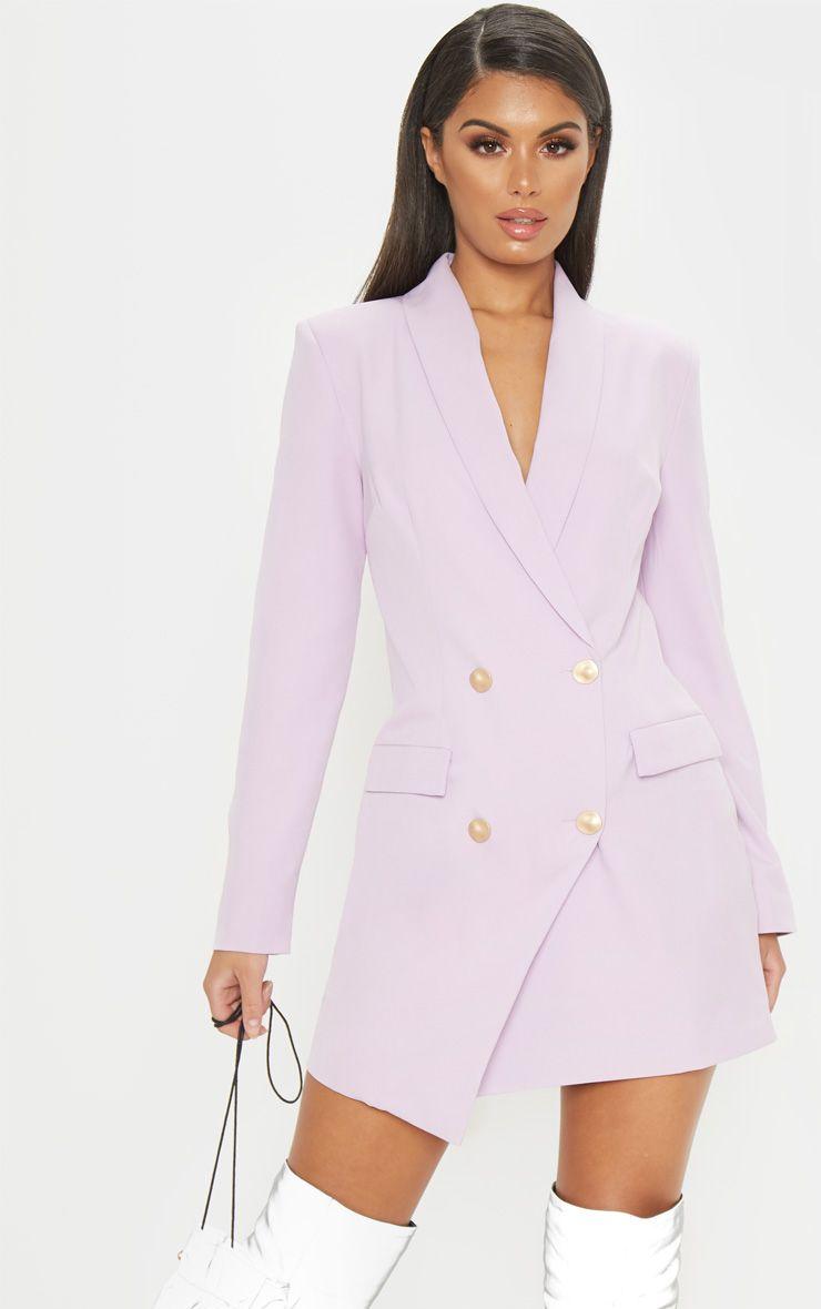 Lilac Gold Button Blazer Dress Blazer Dress Lilac Blazer Fashion [ 1180 x 740 Pixel ]