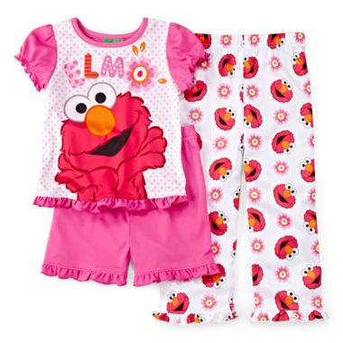 a6c9265402 Sesame Street Elmo 3-pc. Pajama Set - Toddler Girls 2t-4t found at  JCPenney