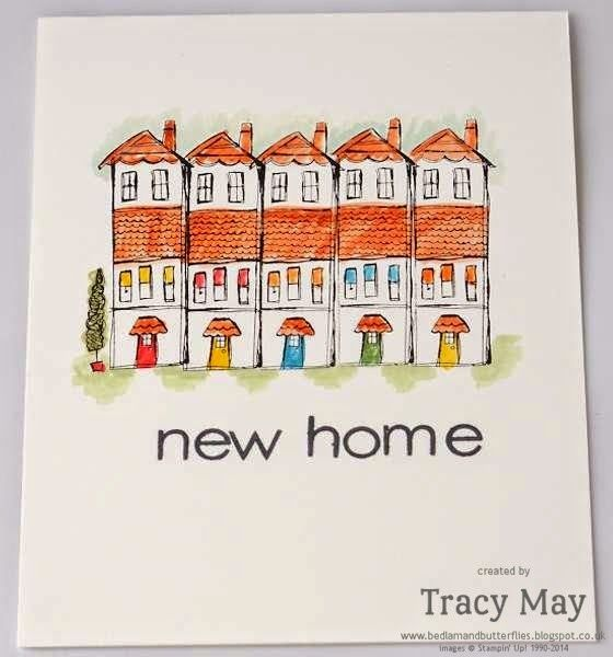 Card Making Ideas Uk Part - 46: A New Home Card With Stampinu0027 Up!u0027s Lifeu0027s Adventure