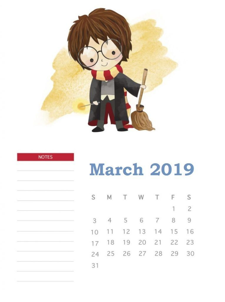 Harry Potter March 2019 Calendar Harry Potter Em 2019 Pinterest