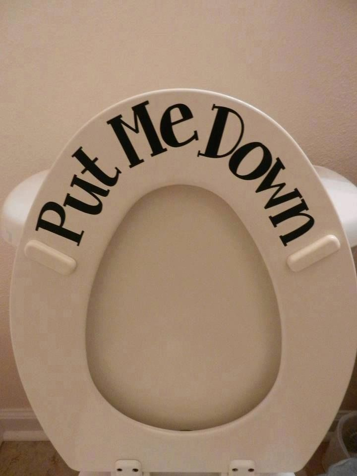 Put The Seat Down Toilet Sticker With Images Boys Bathroom
