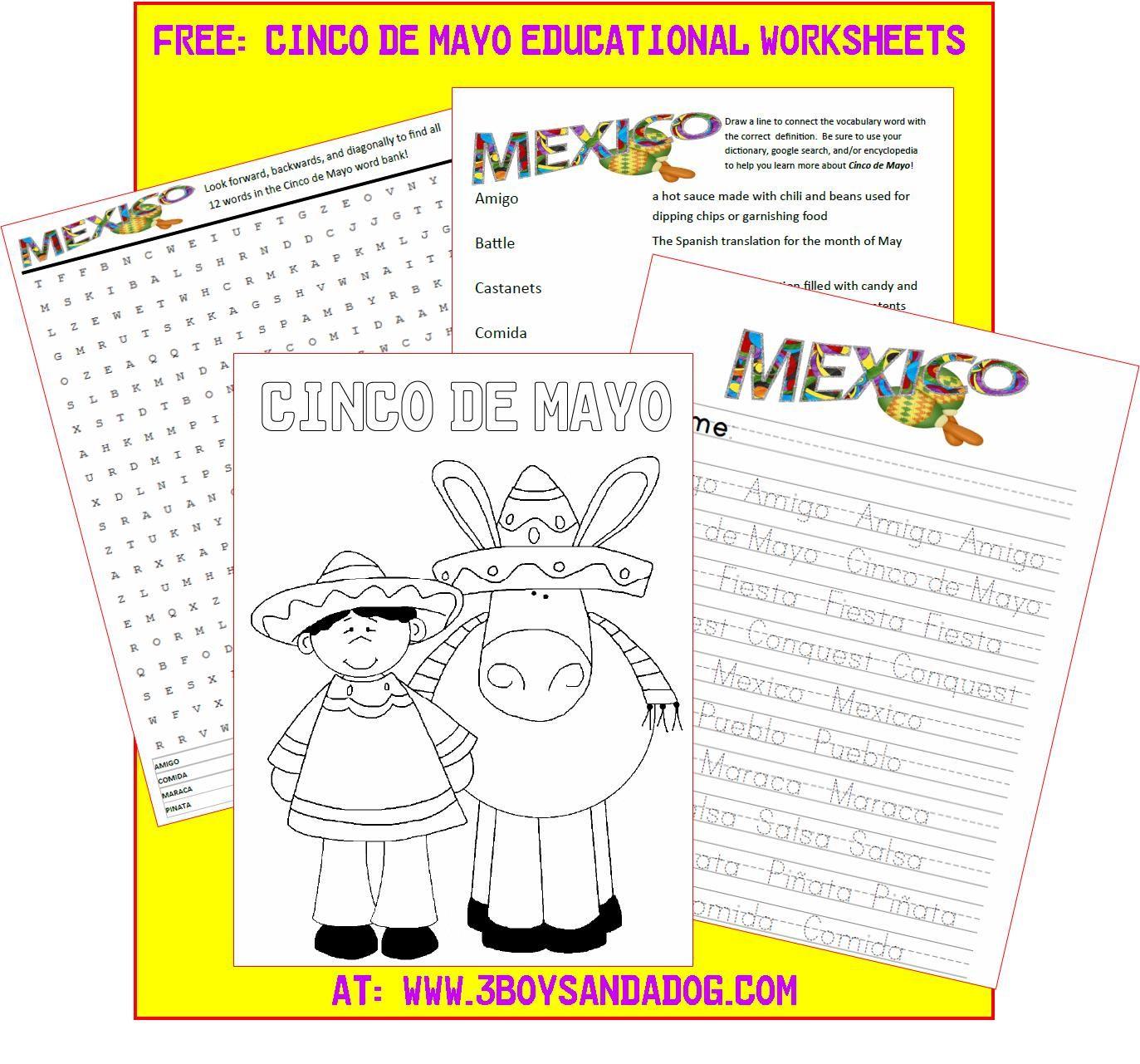 Free Printable Cinco De Mayo Activities For Kids Cokefiesta Cinco De Mayo Activities Cinco De Mayo Homeschool Deals