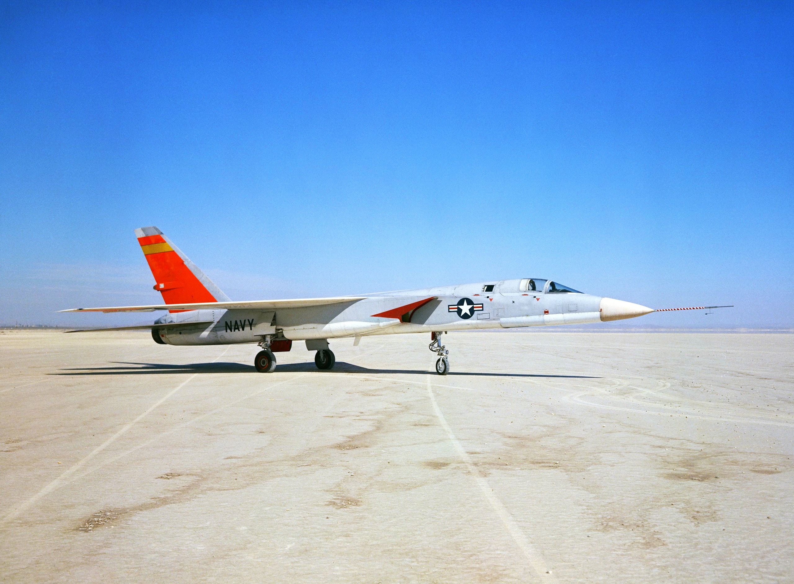 A5A Vigilante arrived from the Naval Air Test Center