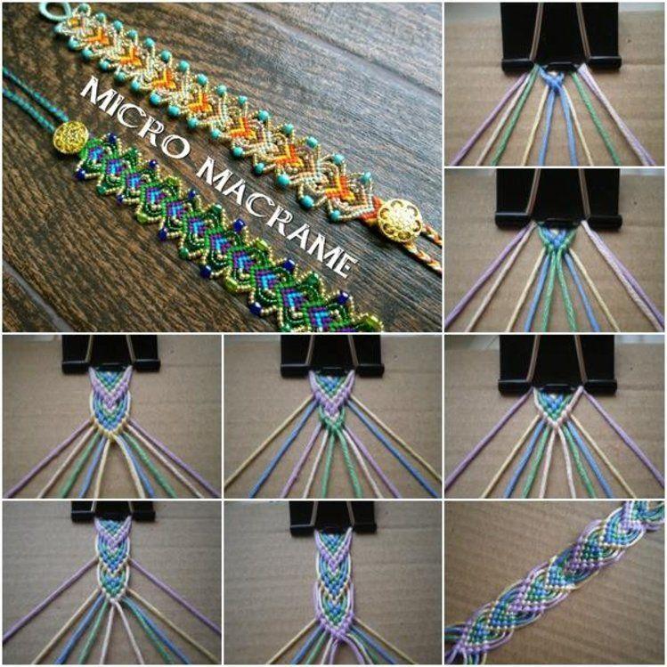 Bransoletka Z Muliny Zrob To Sama Macrame Bracelet Diy Diy Macrame Friendship Bracelets Embroidery Bracelets