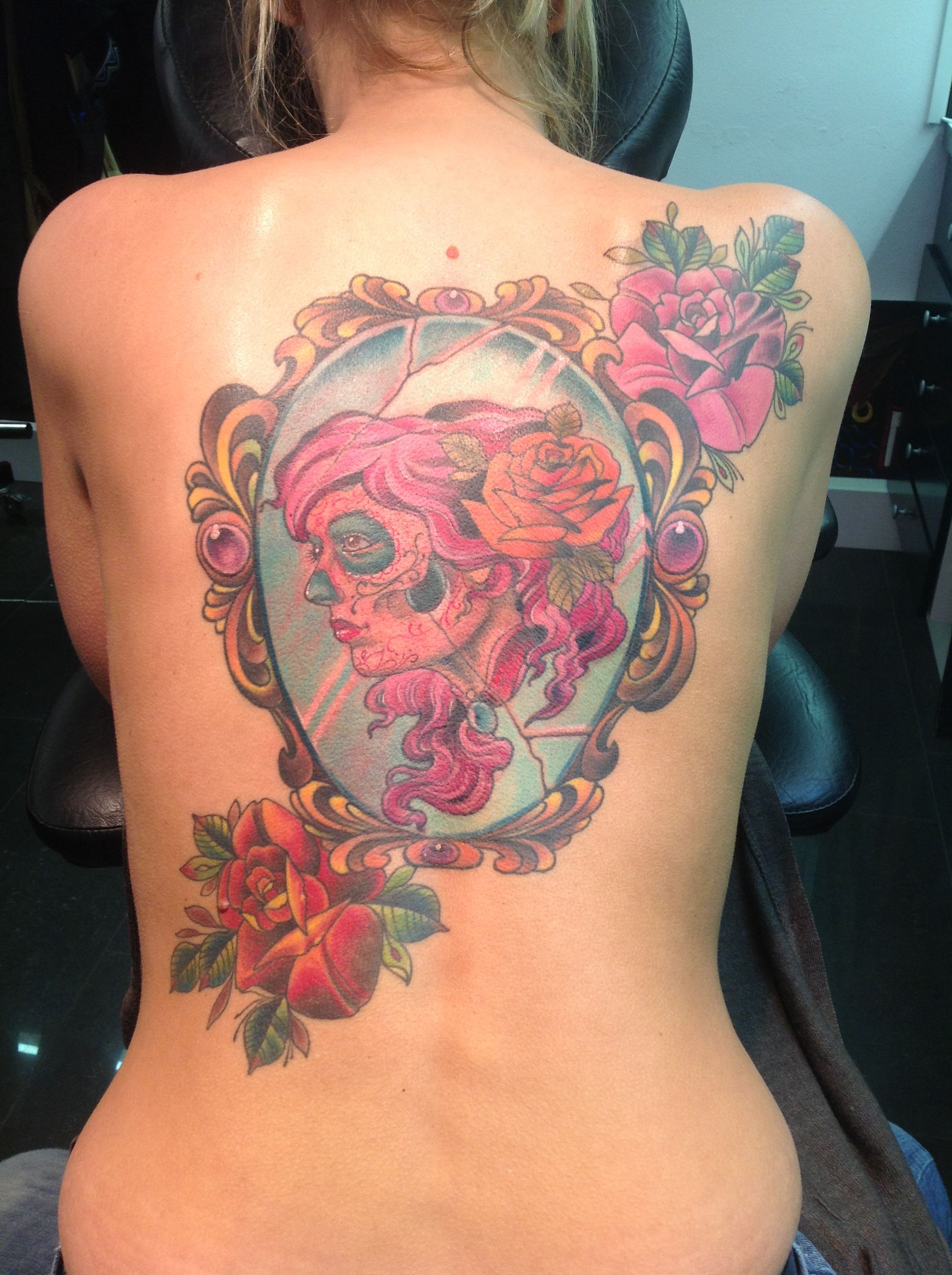 Dia de los muertos tattoo, done by Andre Sparta at Sparta tattoo ...