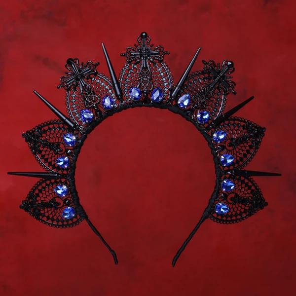 Black Wedding Hairstyles With Crown: KORINNA Black Crown, Bridal Crown, Wedding Crown In 2020