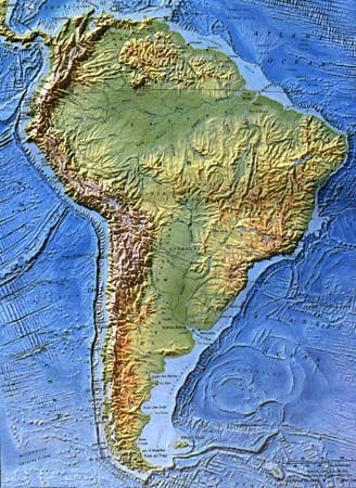 South America Topographic Map Topographic map Andes (avec images) | Photos