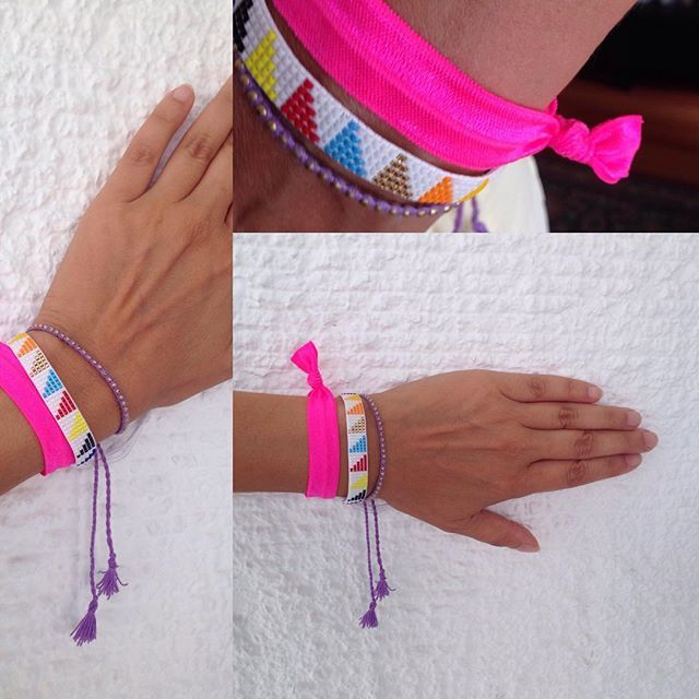 FUNNYBUNNIES- Working is more fun with some armcandy by FUNYBUNNIES.  #pink #haargummi #armband #hairties #bracelet #armcandy #jounus#beauty #fashion #work #cute #beautiful #funnybunnies