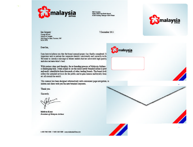Malaysia airlines letterhead airline corporate identity malaysia airlines letterhead spiritdancerdesigns Gallery