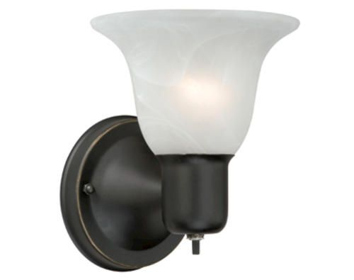 Burley 1 light 5 875 oil bubbed bronze wall light at menards light over the