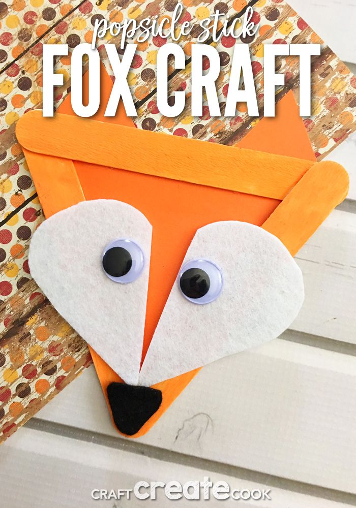 Popsicle Stick Fox Craft Best Of Craft Create Cook Fox Crafts