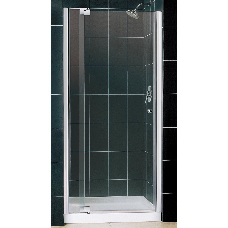 Dreamline Allure Frameless Pivot Shower Door And Slimline 36 X 36
