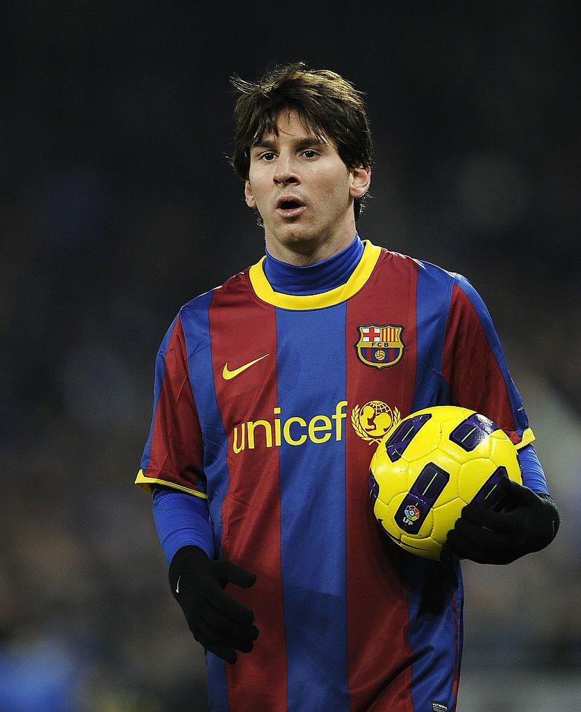 Lionel Messi Of Barcelona Looks On During The La Liga Match Between Lionel Messi Messi Futbol Messi
