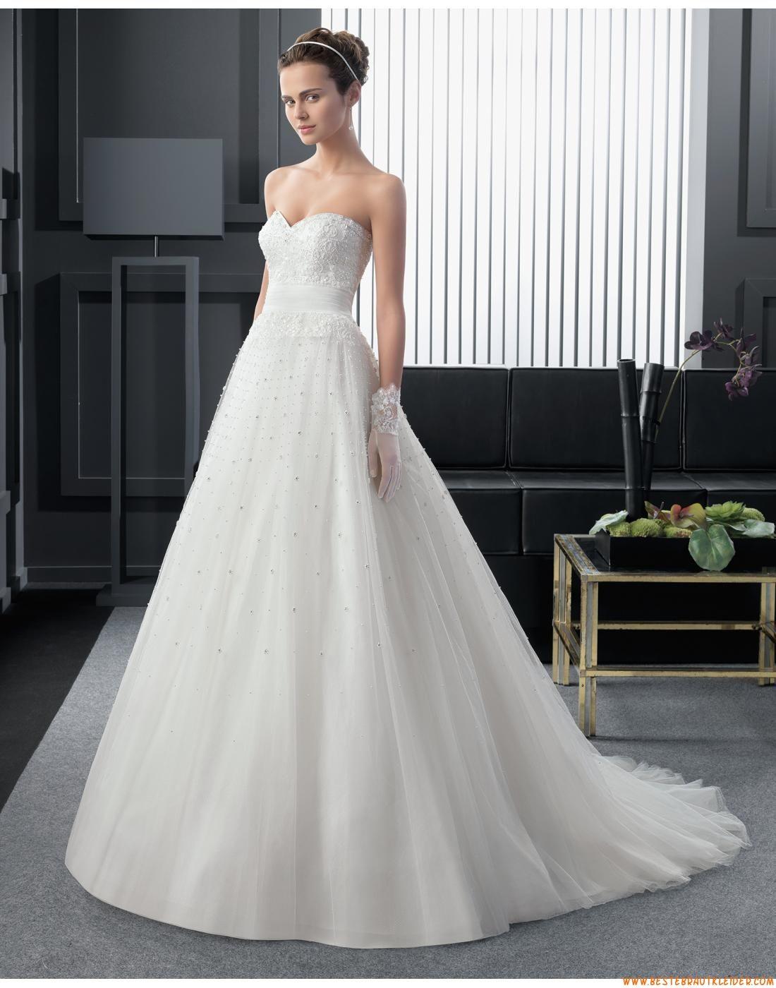 2015 A-linie Exklusive Trendige Brautkleider aus Softnetz mit ...