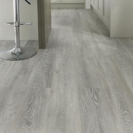 Light grey oak flooring howdens have a look though not for Grey bathroom laminate flooring
