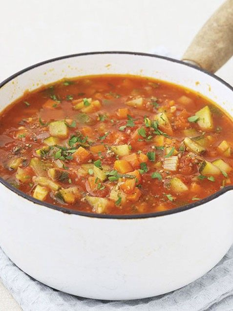 Healthy thick veggie soup