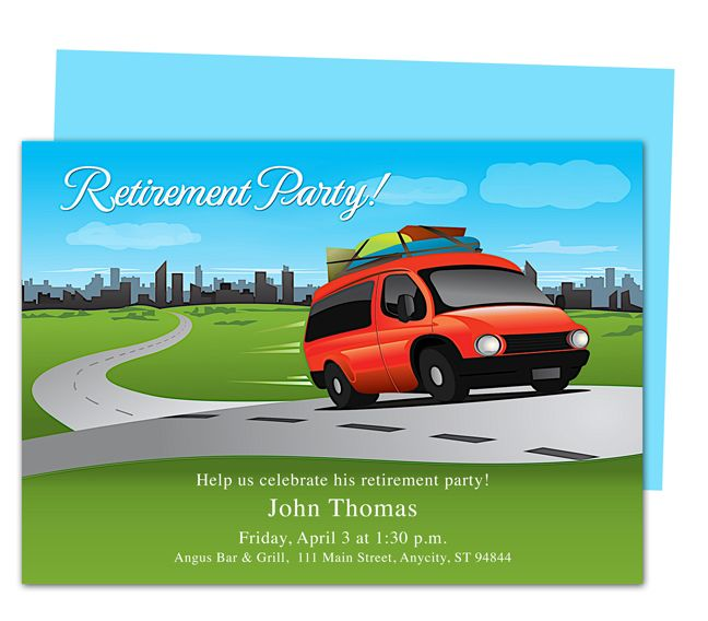 Trip Retirement Party Invitations Templates Diy Printable Template