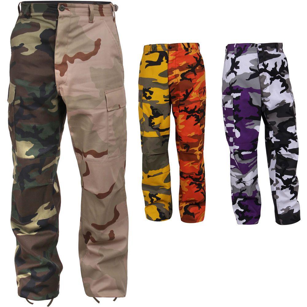 Two Tone Camo Cargo Pants e0933640cf3