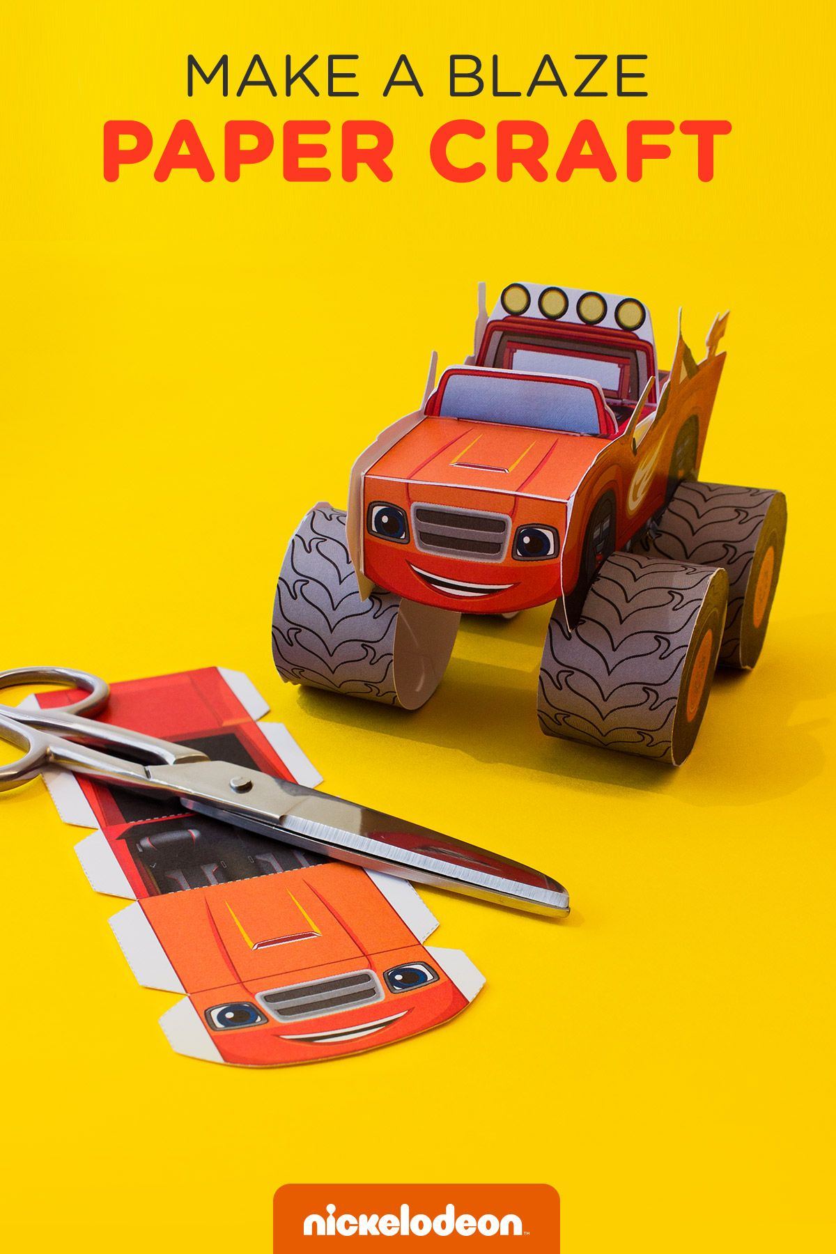 blaze vehicle craft free printable monsters and craft