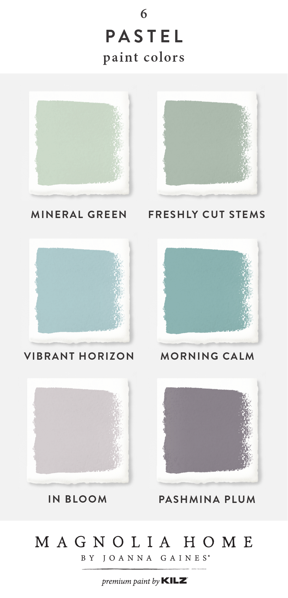 Add A Splash Of Pastel Color To The Interior Design Of Your Home With This Color Palette From The M Purple Paint Colors Joanna Gaines Paint Pastel Paint Colors