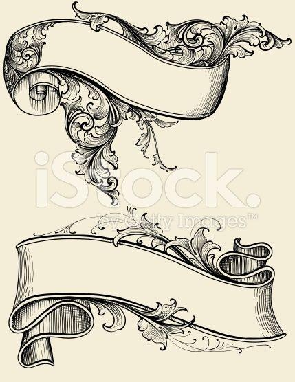 Ribbon and Scroll royalty-free stock vector art | vintage spice ...