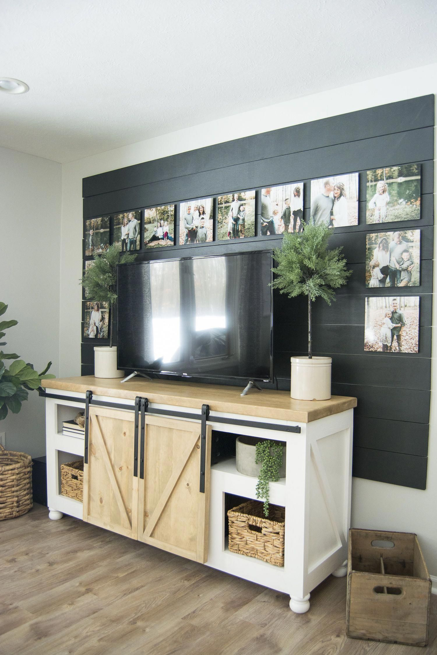 This Diy Tutorial Gives You The Basic Steps To Create A Shiplap Accent Wall Complete This Easy Accent Wall In 2020 Easy Home Decor Shiplap Accent Wall Living Room Tv