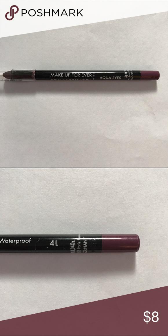 Makeup Forever waterproof eyeliner pencil 4L (dark plum