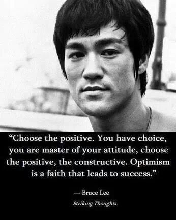 I Chose Positive Bruce Lee Quotes Bruce Lee Martial Arts