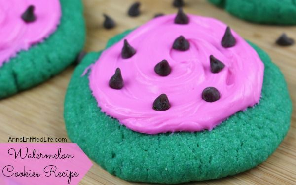 Watermelon cookie recipe