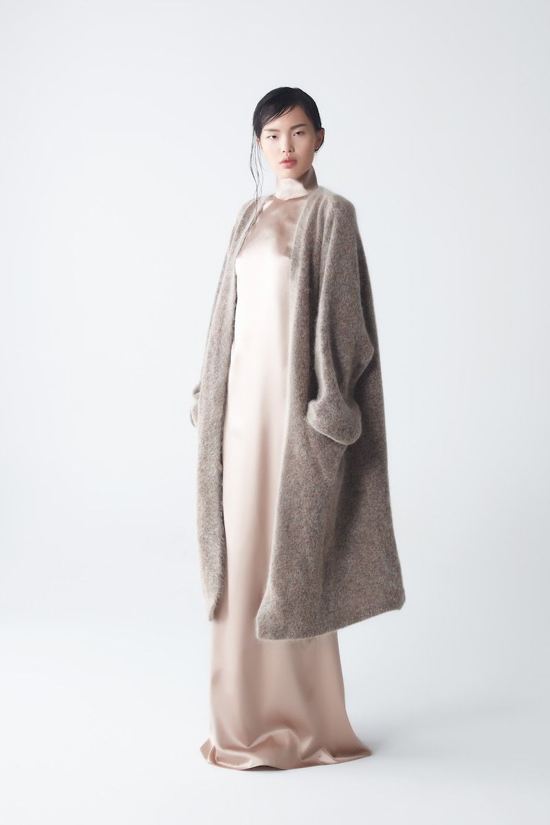 Eden Mohair Knit Coat with Ava Silk Dress | High Fashion ...