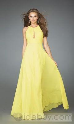 Vestidos de fiesta de noche amarillos