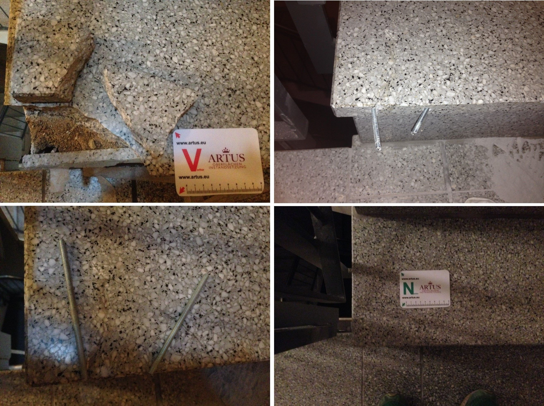 abplatzung instandsetzung reparatur beschaedigung schaden sanierung reklamation. Black Bedroom Furniture Sets. Home Design Ideas