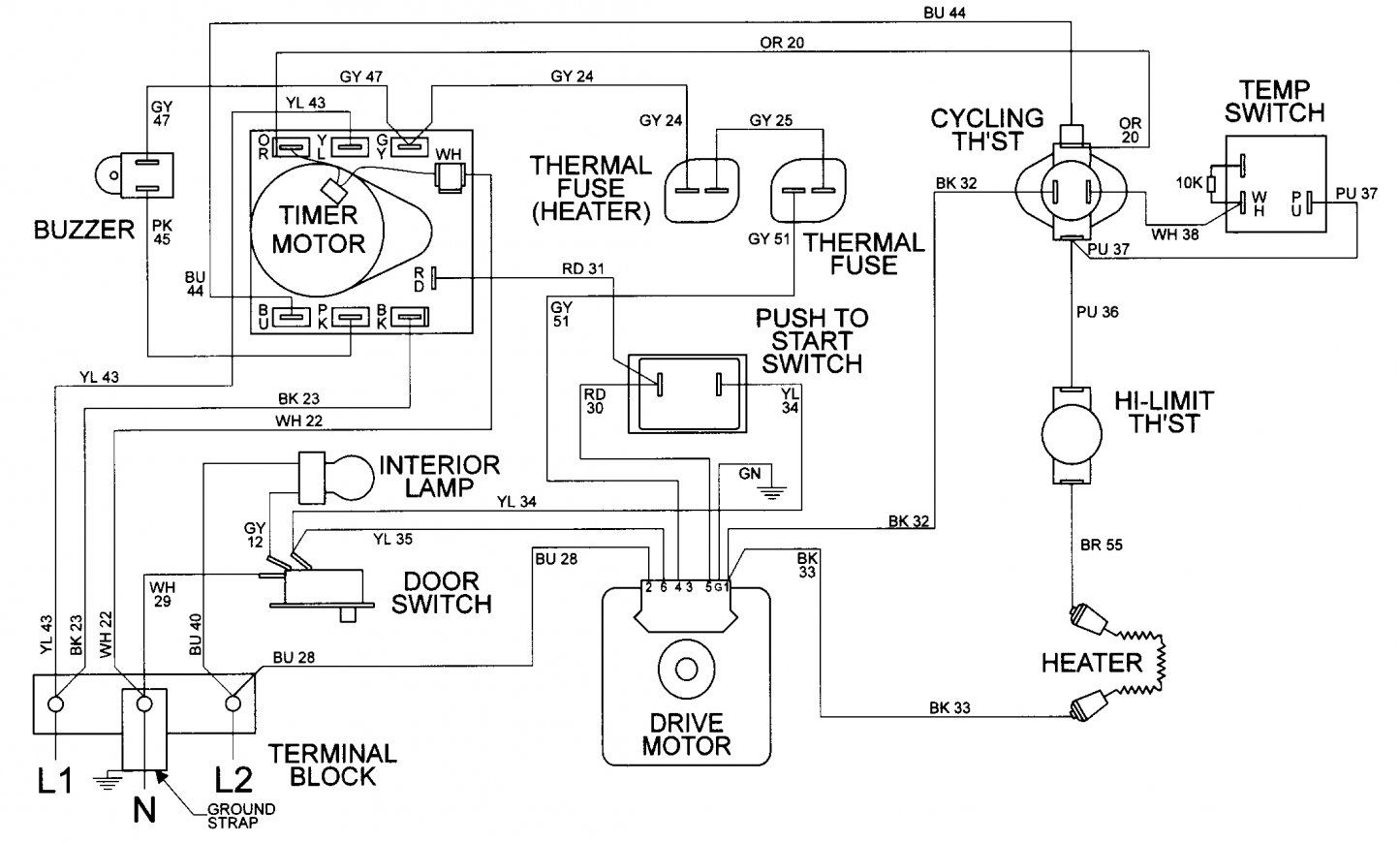 Wiring Diagram Of Washing Machine With Dryer - bookingritzcarlton.info | Washing  machine and dryer, Diagram, MaytagPinterest