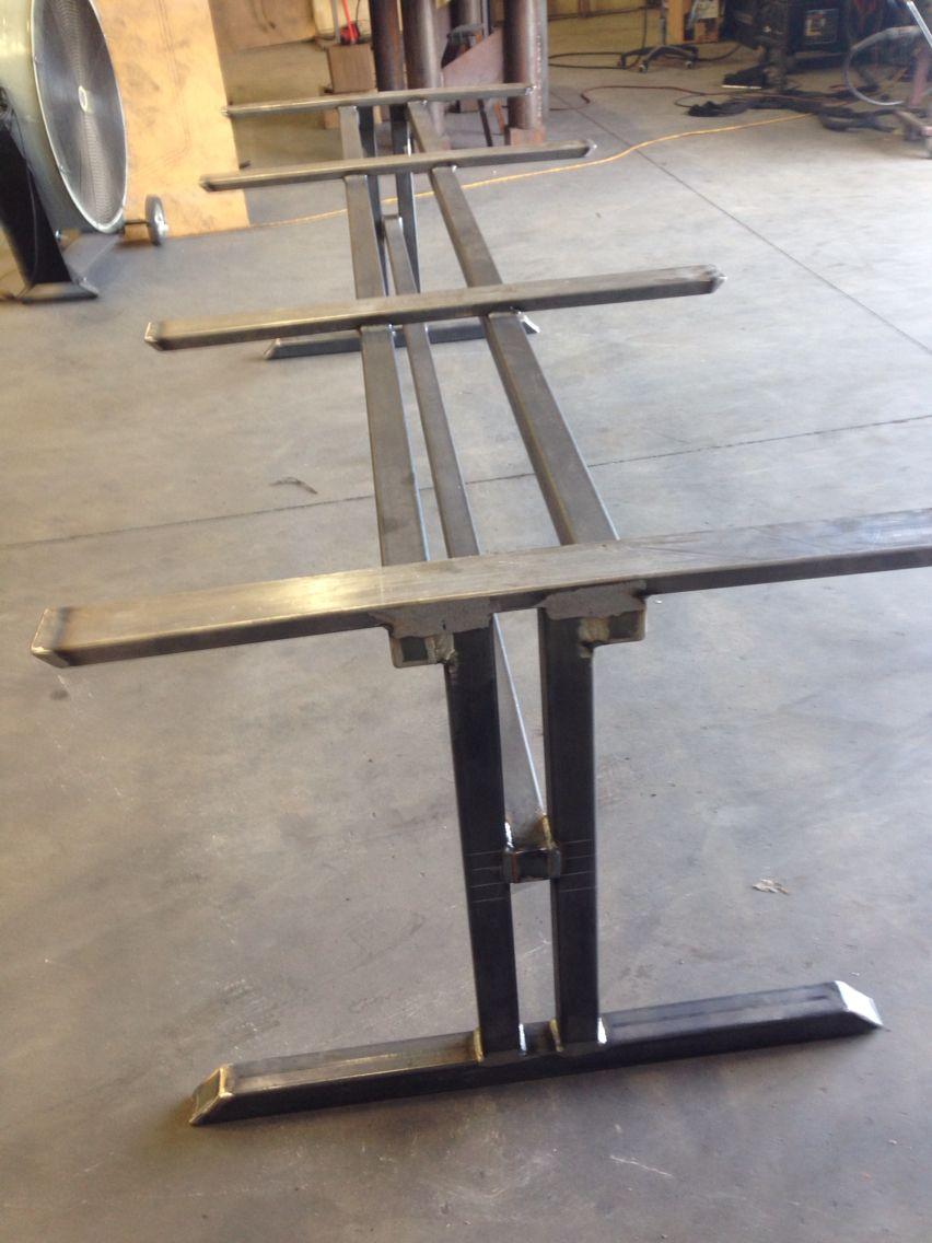 Trestle Style Metal Table Base Steel Table Base Steel Dining Table Legs Metal Table Base