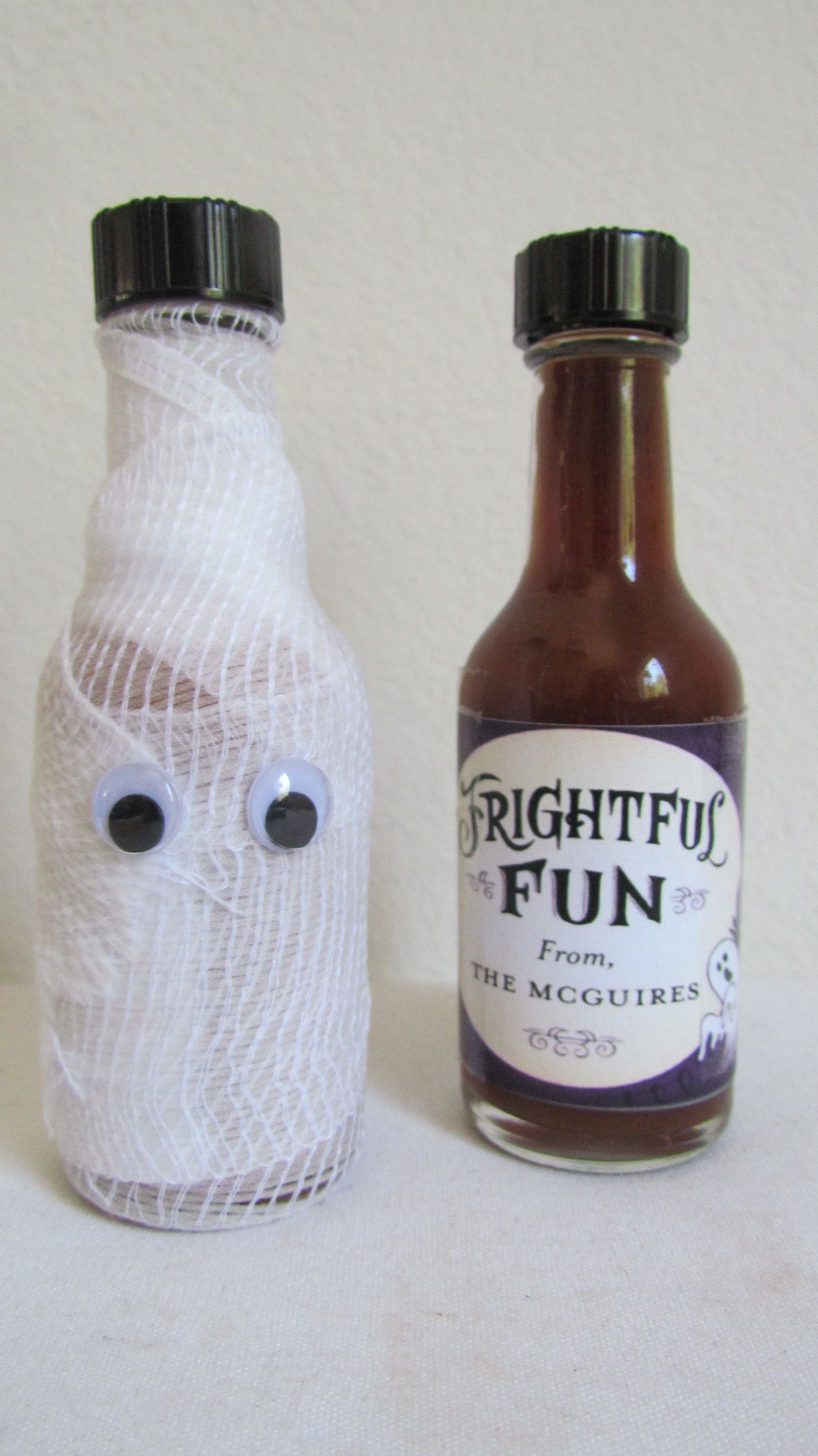 Mummy Hot Sauce! Halloween Party personalized favors... made with ...