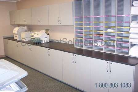 Copy Room Storage Cubbyholes Workcounter Copy Room Fax Office Supplies  Millwork Furniture Cabinets Modular Copy Room