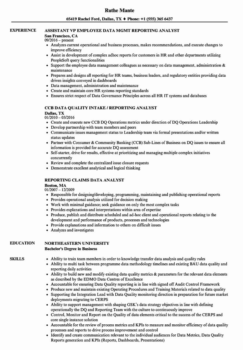 20 data analyst resume indeed in 2020  with images