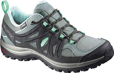 Womens Salomon Ellipse 2 GORE-TEX Hiking Shoe - Light TT/Asphalt/Jade Green - FREE Shipping & Exchanges | Shoebuy.com