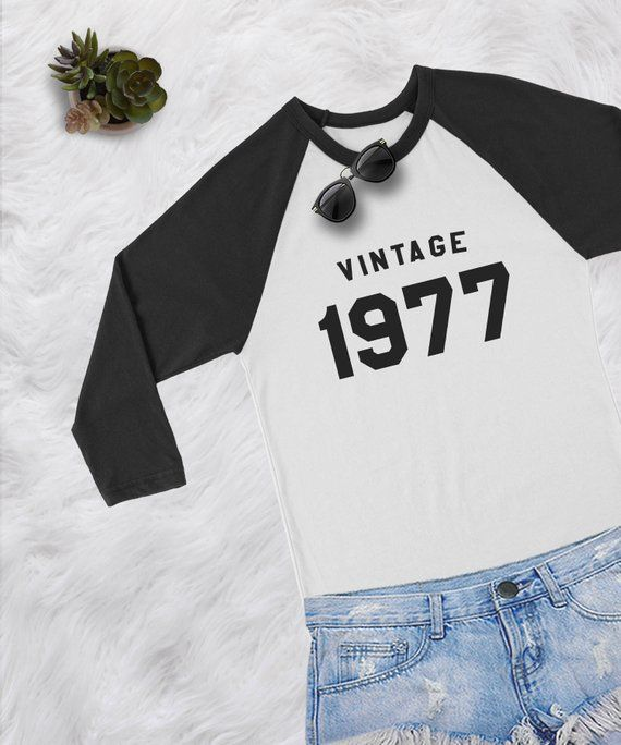 41st Birthday Shirts For Women Wife Gift Mom 1977 Shirt Womens Graphic Tee