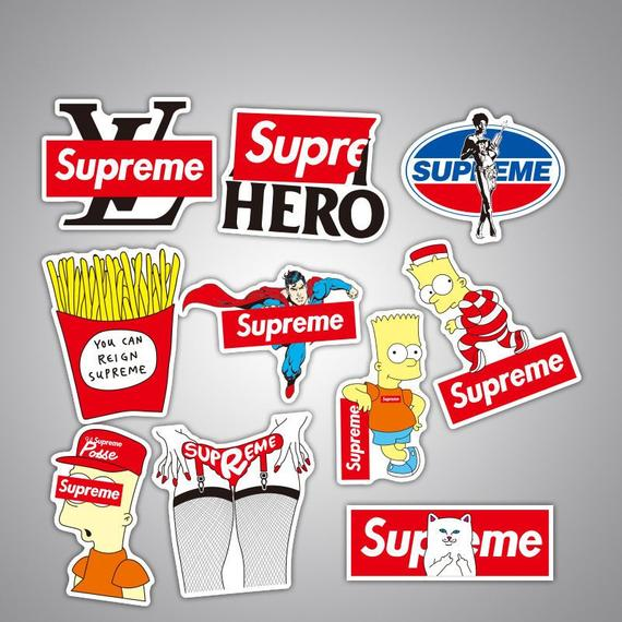 Supreme 50pcs Stickers Pack For Laptop Products In 2019