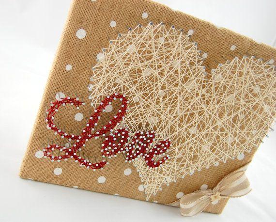 Love String Art String Art Custom Wall by PaisleyPoppyDesigns | Fun ...