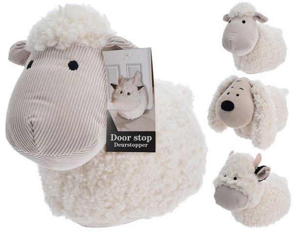 Animal Cow Sheep Dog Design Soft Cream Fabric Door Stop Doorstop Stopper Weight Door Stop Doorstop Pattern Animal Doorstop