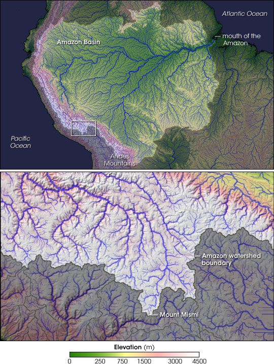 2 Mount Mismi Peru The Amazon River System Consists Of A Huge